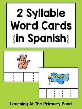 Spanish Syllables Practice with 2 Syllable Words {Palabras de 2 sílabas}