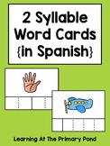 Spanish Syllables Practice with 2 Syllable Words {Palabras de 2 sílabas}