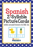 2 Syllable Words in Spanish Hands On Literacy Activity Center