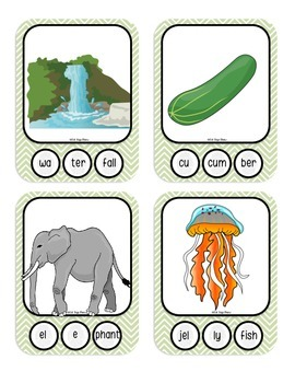 3 Syllable Words with Fingerprint Prompts (marking syllables, multisyllabic)