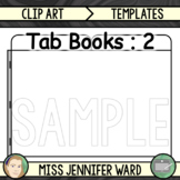 2 Tab Book Template FREE