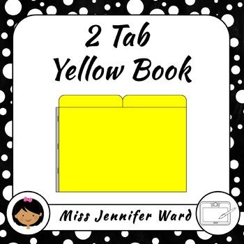 2 Tab Yellow Book Template