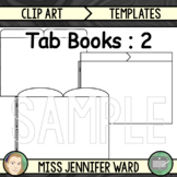 2 Tabs : Book Clipart Sets
