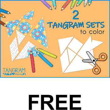 2 TANGRAM SETS TO COLOR