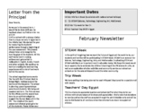 2 Templates of monthly newsletter