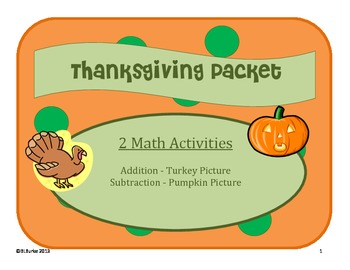 2 Thanksgiving Math Activities - Adding and Subtracting Co