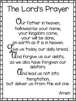 71cb4249b5107 2-The Lord's Prayer Wall Charts/Posters, NIV. Preschool-5th Grade Bible