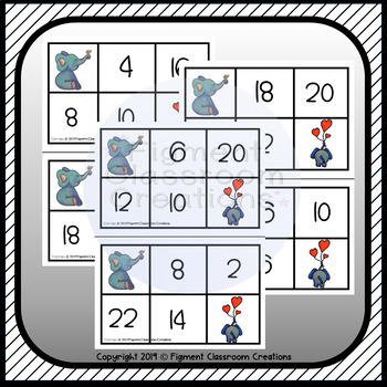 2 Times Table Bingo Game