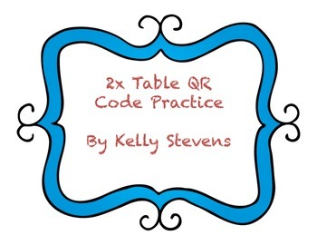 2 Times Table QR Codes
