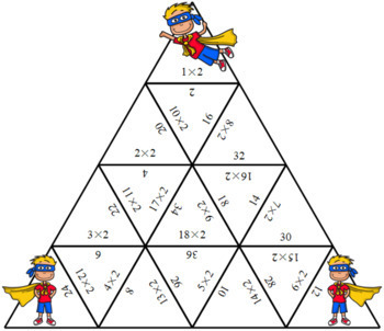 Times Tables Super Heroes Puzzles Two Times Table