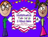 2 Times Table Task Cards