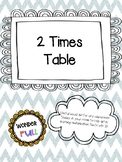 2 Times Table Visual