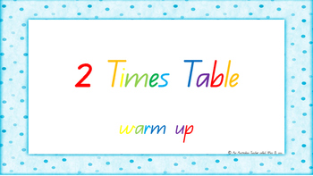 2 Times Table Warm Up ACARA C2C Common Core aligned PowerPoint