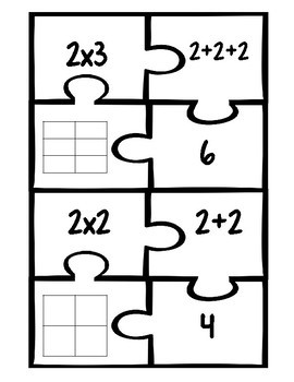 2 Times Tables Fluency Matching Puzzles