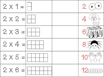 2 Times Tables Printables