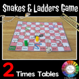 2 Times Tables Snakes and Ladders Game