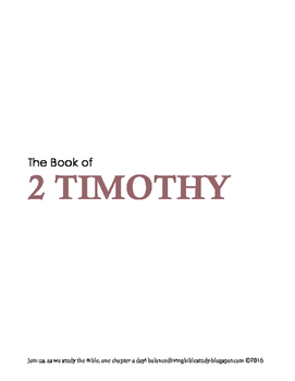 2 Timothy WORD Guide