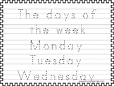 2 Trace the Days of the Week Worksheets. Preschool-KDG Han