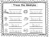 2 Trace the Homonyms Worksheets. Preschool-KDG Handwriting.