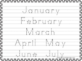 2 Trace the Months of the Year Worksheets. Preschool-KDG H