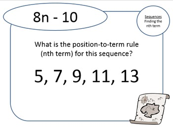 2 Treasure Hunts (Easy and Hard): Finding the nth term of a sequence