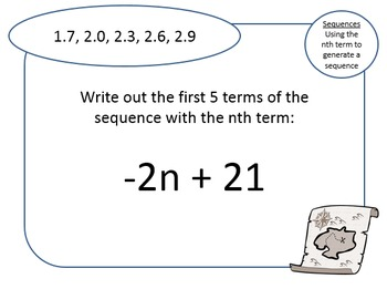 2 Treasure Hunts (Easy and Hard): Generating a sequence from the nth term