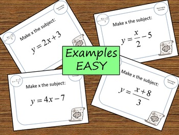 2 Treasure hunts (Easy and Hard) Rearranging equations/changing the subject