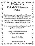 37 Different 2 Truths & A Lie 6th Grade Math Standards D.O.K. 3