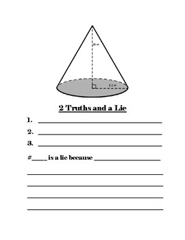 2 Truths and a Lie 8th Grade Geometry