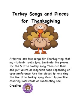 2 Turkey Songs with pictures