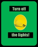 2 Turn off the lights POSTERS. Environmental ECO Club Top Seller