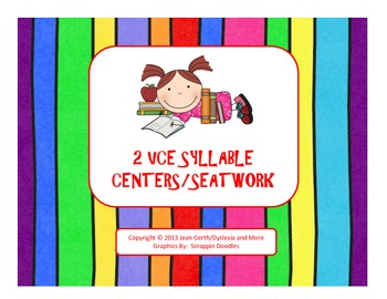 2 VCE Syllable Centers/Seatwork