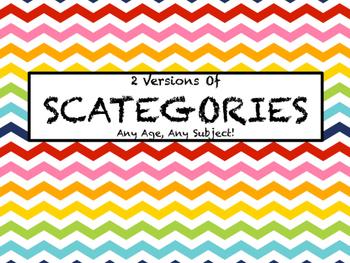 2 Versions of Scategories