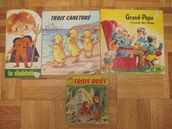 4 Vintage French children's books Trois canetons Diablotin