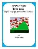 2 Virginia Studies SOL Review Bingo Games-VA Geography, Government, & Economics