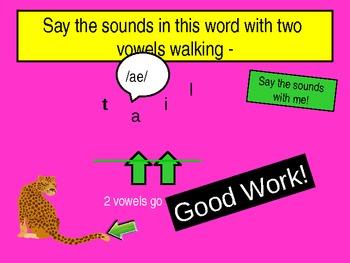 2 Vowels Go Walking Slideshow