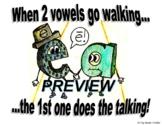 2 Vowels Walking Poster