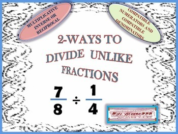 2 -Ways to Divide Unlike Fractions