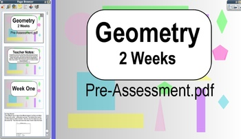 2 Week Geometry Unit with 12 Centers!