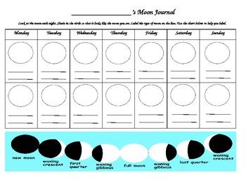 2 Week Moon Observation Journal