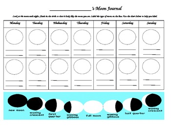 2 Week Moon Observation Journal