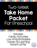 2-Week Take Home Packet for Preschool (Distance Learning)