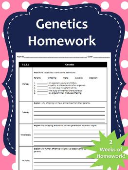 2 Weeks of Genetics Homework