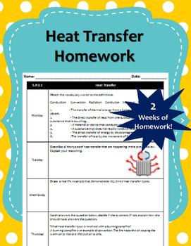 2 Weeks of Heat Transfer Homework