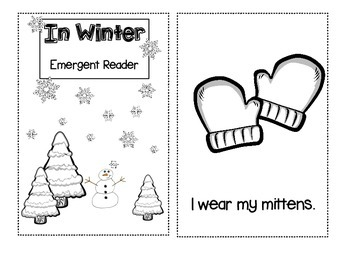 2 Winter Emergent Reader Booklets