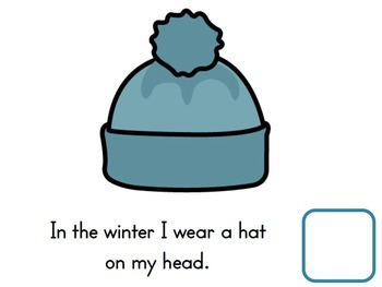 2 Winter Interactive Emergent Readers & Activities Adaped for Special Education