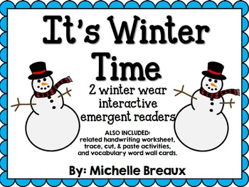 2 Winter Interactive Emergent Readers & Activities Adaped
