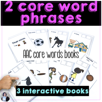 2 Word Core Words Books for Teaching AAC Users to Communicate