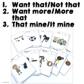 AAC 2 Core Word Phrases Books for Teaching AAC Users to Communicate