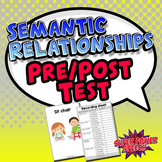 2-Word Semantic Relationships Pre/Post Test